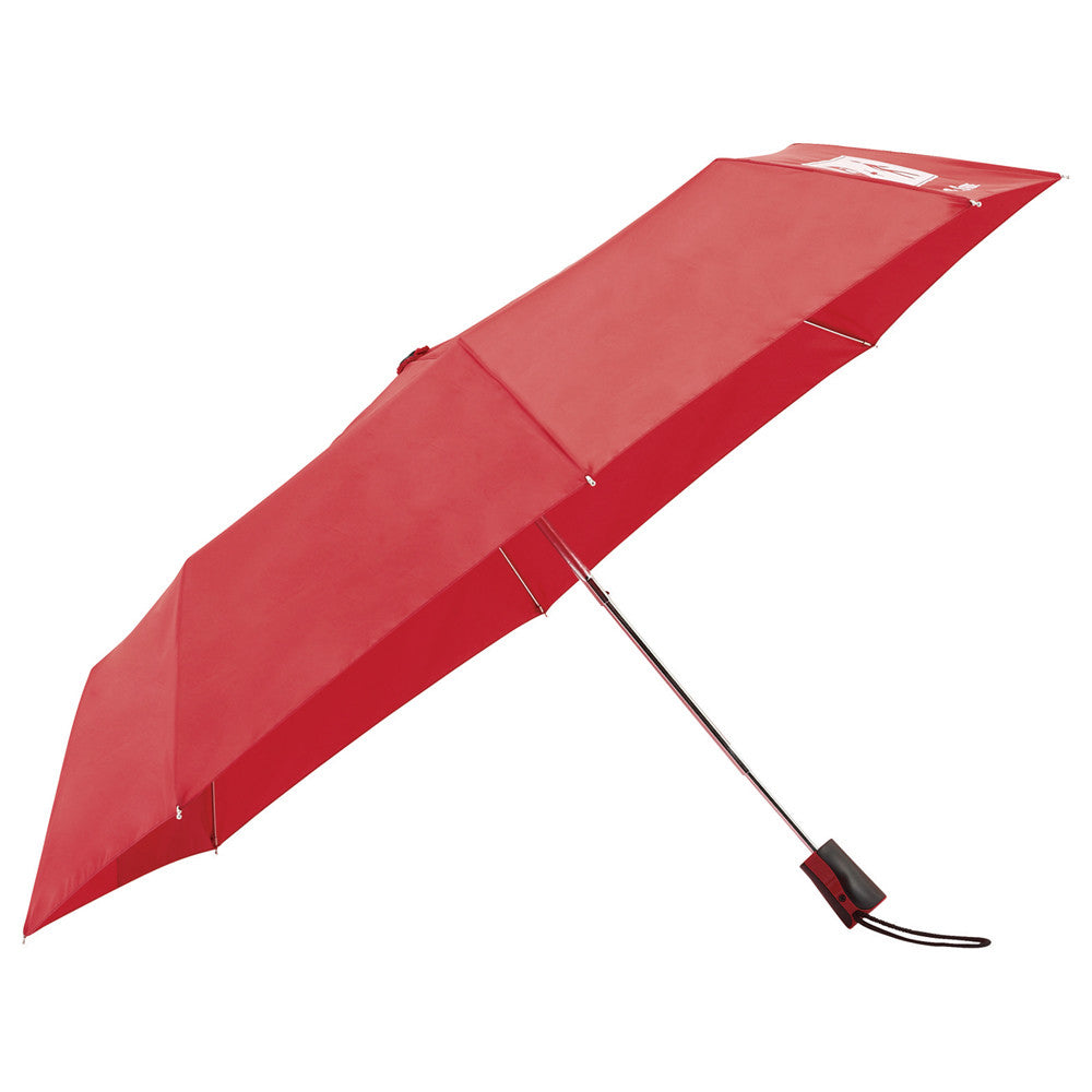 "Totes Red 42"" 3 Section Auto Open Umbrella"