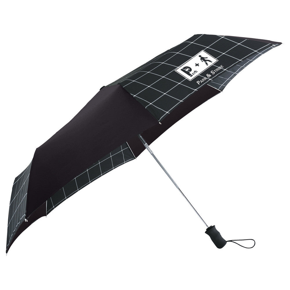 "Totes Black 42"" 3 Section Auto Open Umbrella"