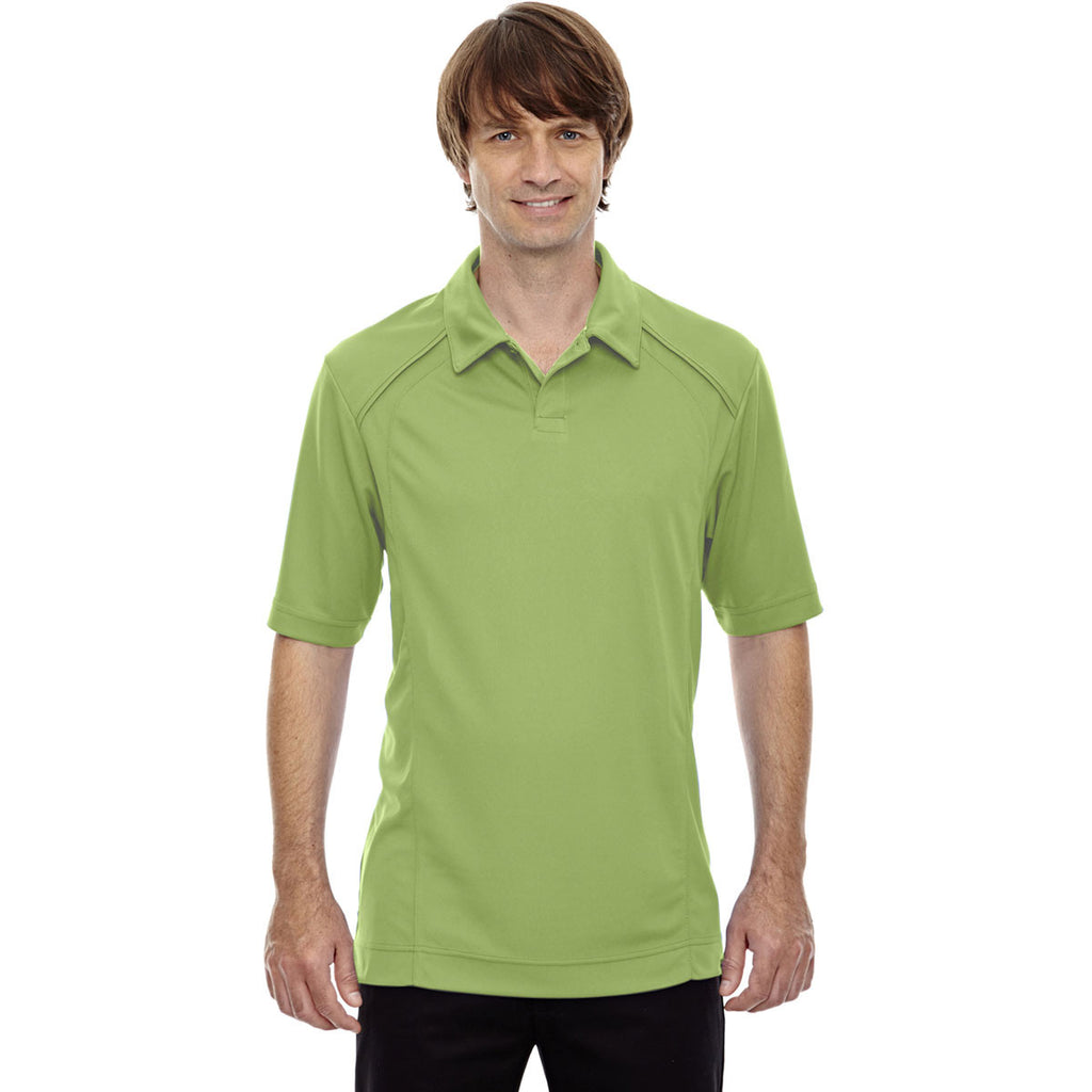 North End Men's Cactus Green Recycled Polyester Performance Pique Polo