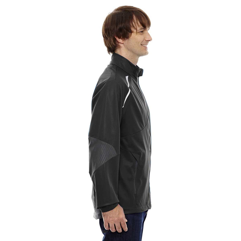 North End Men's Black Lightweight Bonded Performance Hybrid Jacket