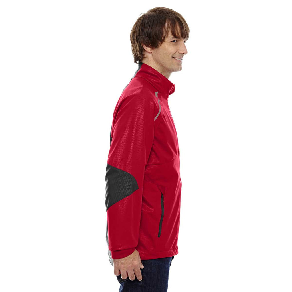 North End Men's Olympic Red Lightweight Bonded Performance Hybrid Jacket