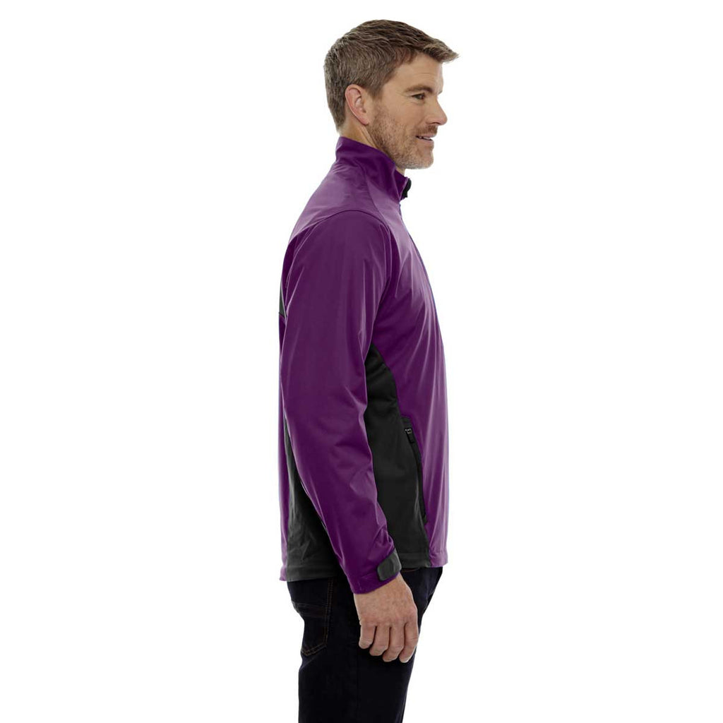 North End Men's Mulberry/Purple Performance Stretch Wind Shirt