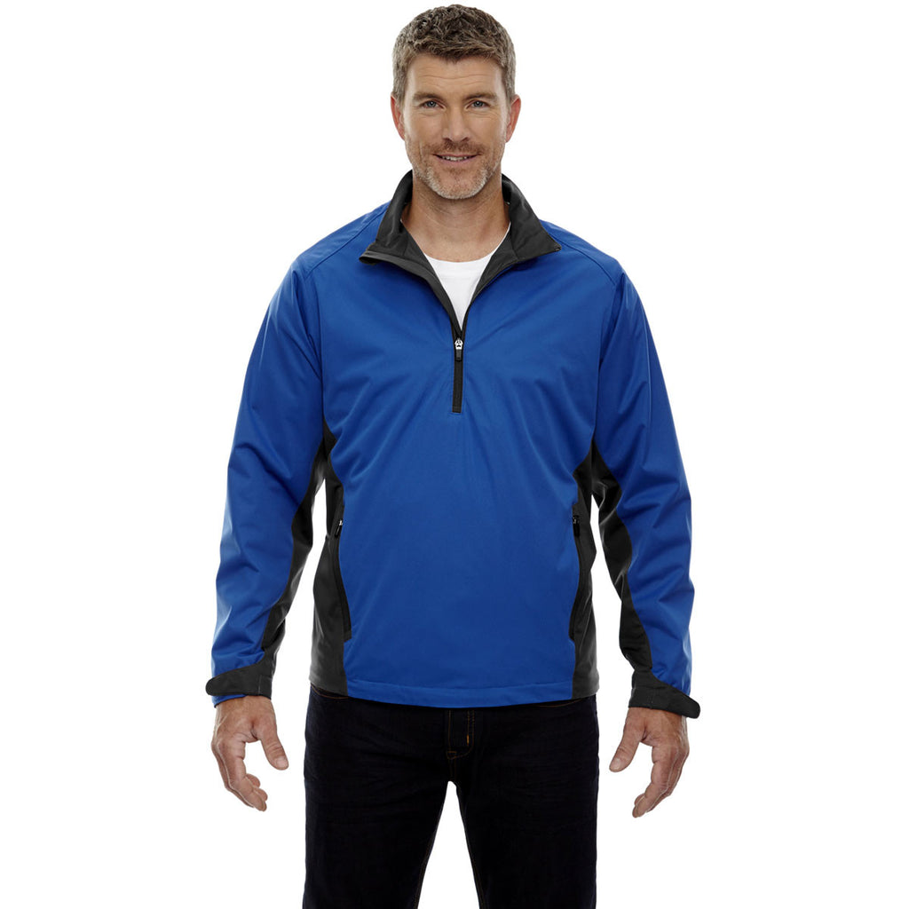 North End Men's Nautical Blue Performance Stretch Wind Shirt