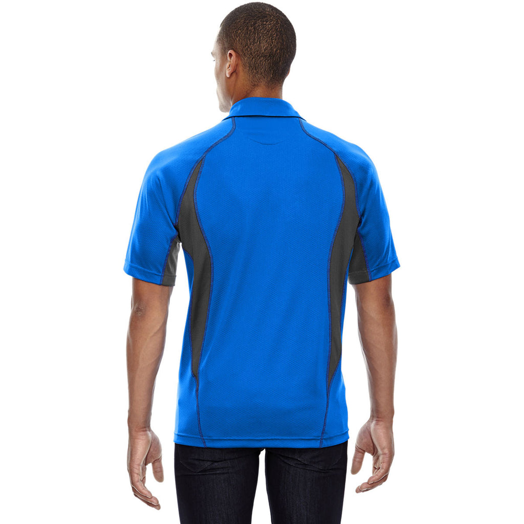 North End Men's Olympic Blue Serac UTK Performance Zippered Polo