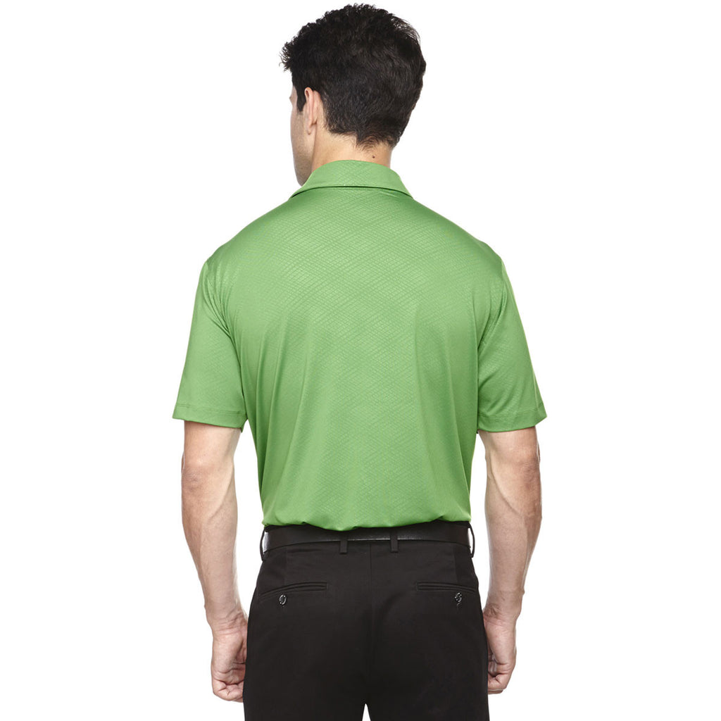 North End Men's Valley Green Maze Performance Stretch Embossed Print Polo