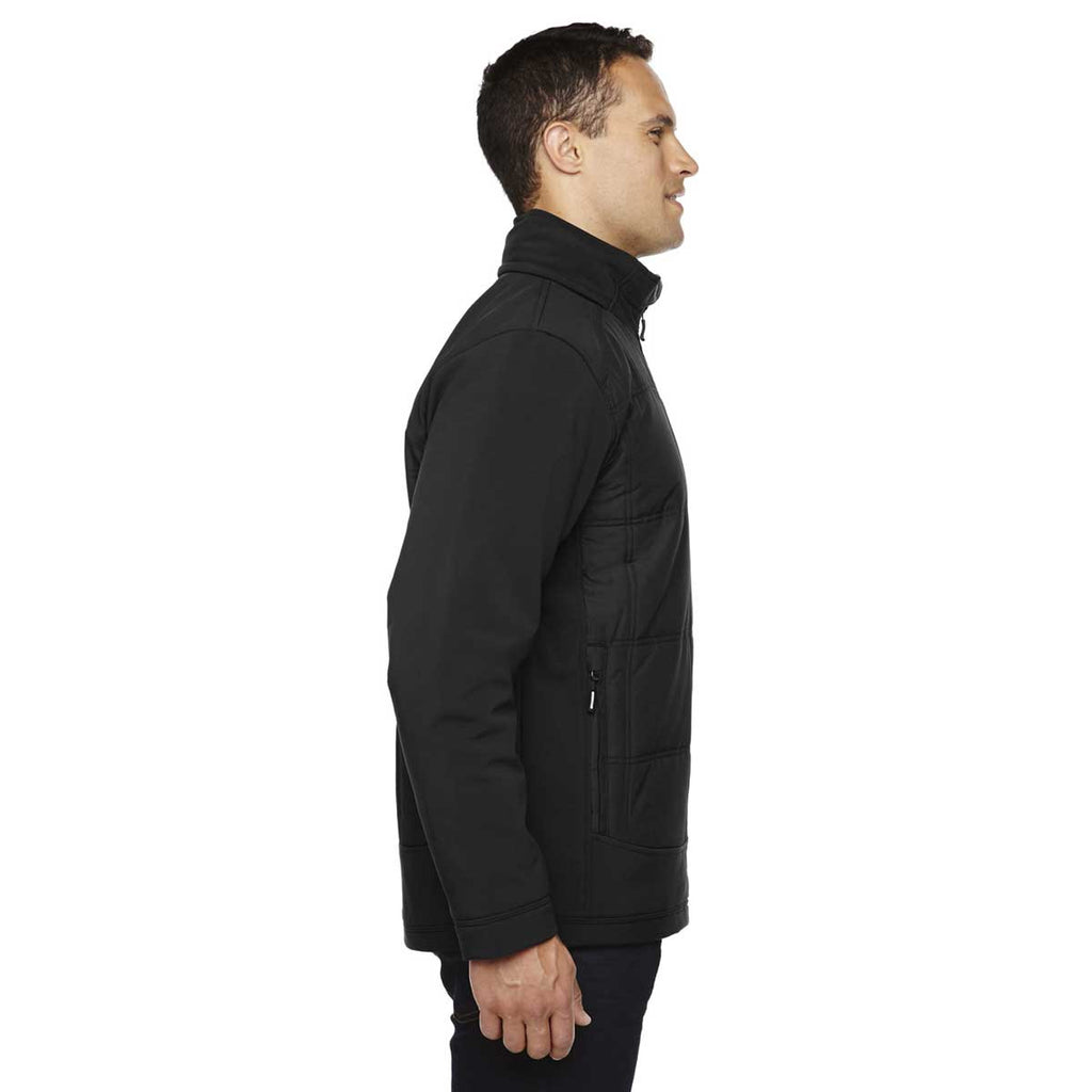 North End Men's Black Neo Insulated Hybrid Soft Shell Jacket