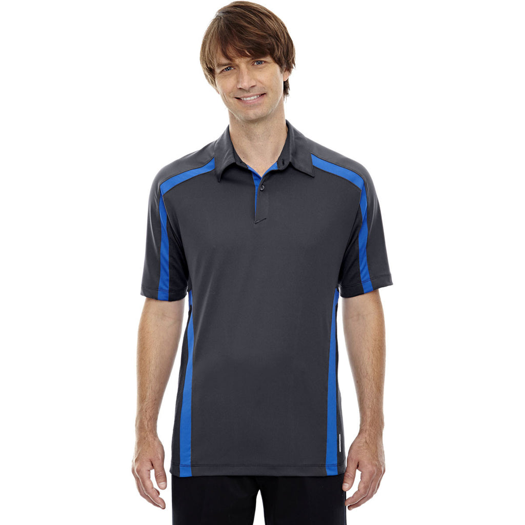 North End Men's Black Silk Accelerate Performance Polo