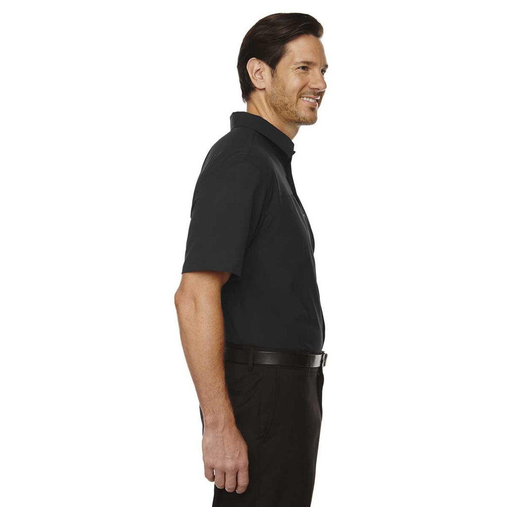 North End Men's Black Polyester Performance Short-Sleeve Shirt