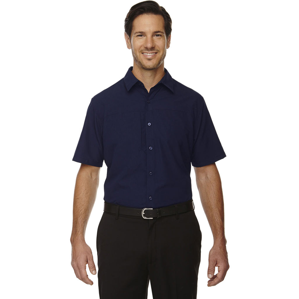 North End Men's Night Polyester Performance Short-Sleeve Shirt