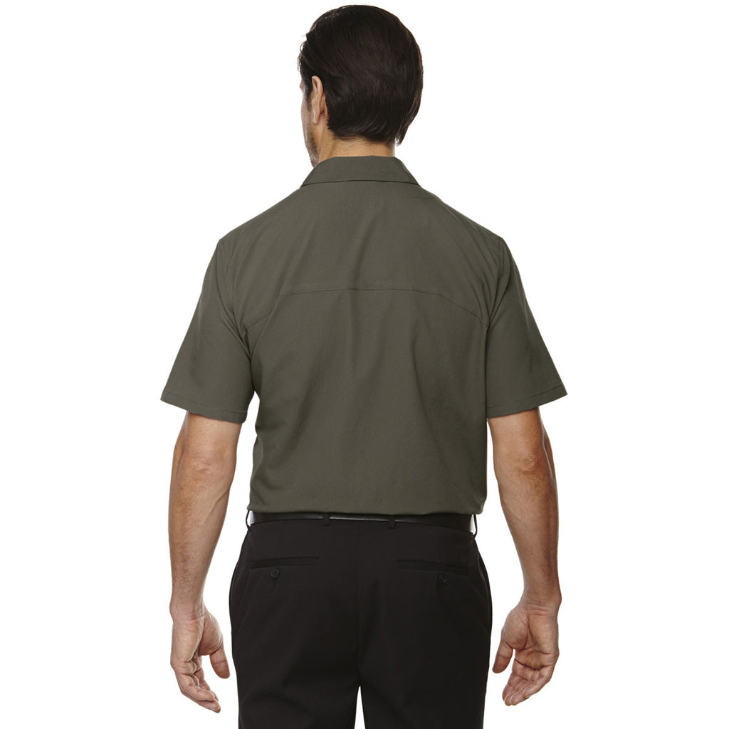 North End Men's Oakmoss Polyester Performance Short-Sleeve Shirt