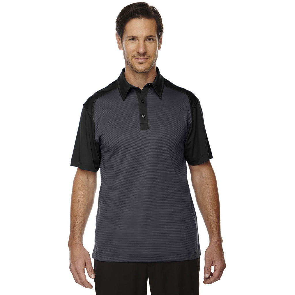North End Men's Black logik Coffee Performance Polo