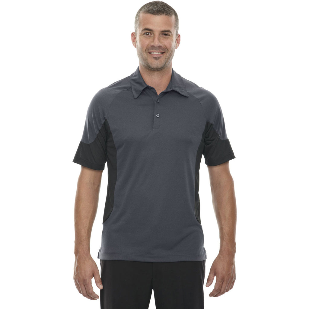 North End Men's Carbon Jersey Polo