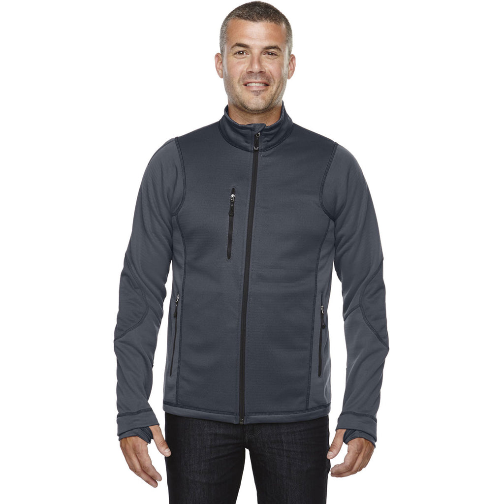 North End Men's Carbon Fleece Jacket with Print