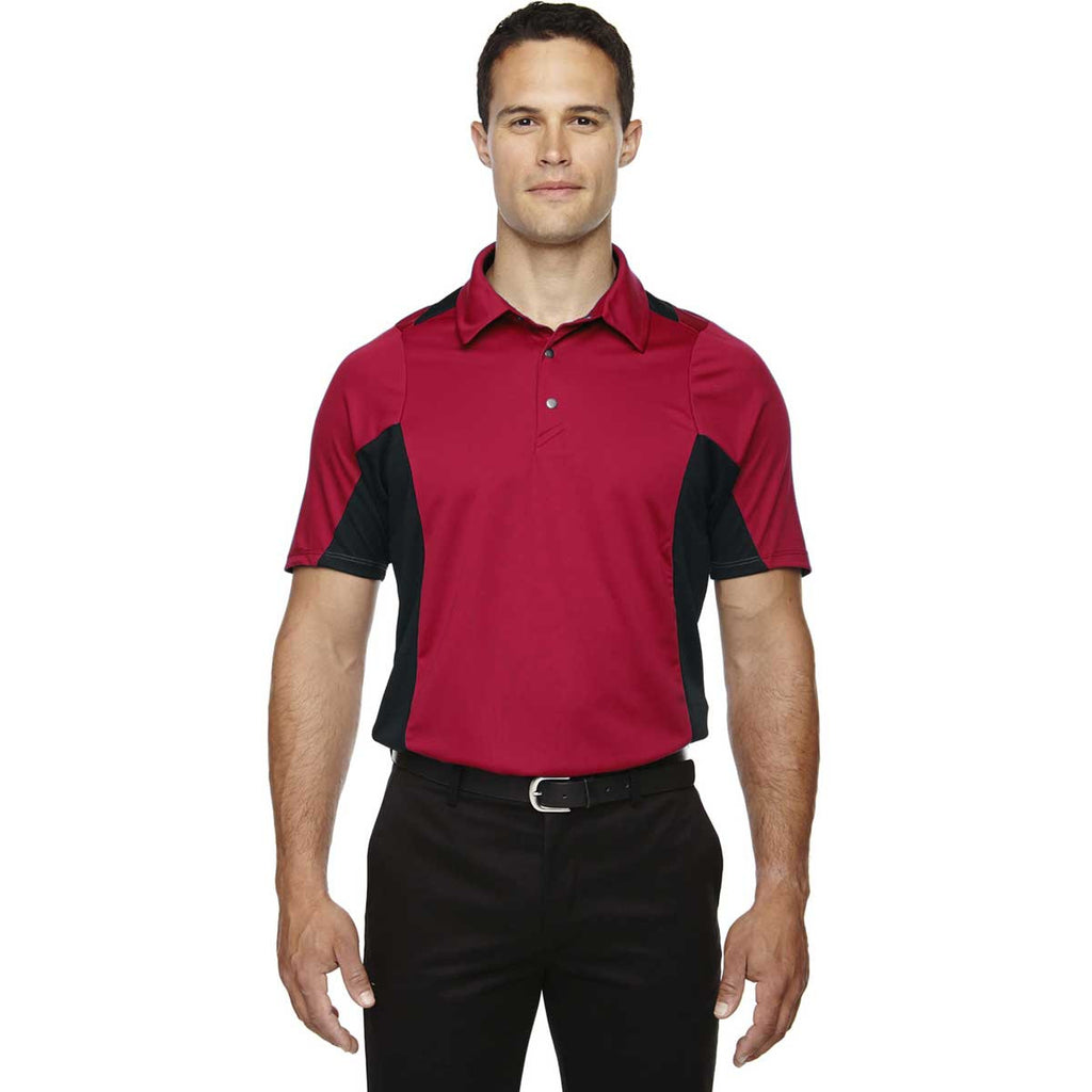 North End Men's Olympic Red Rotate Quick Dry Performance Polo