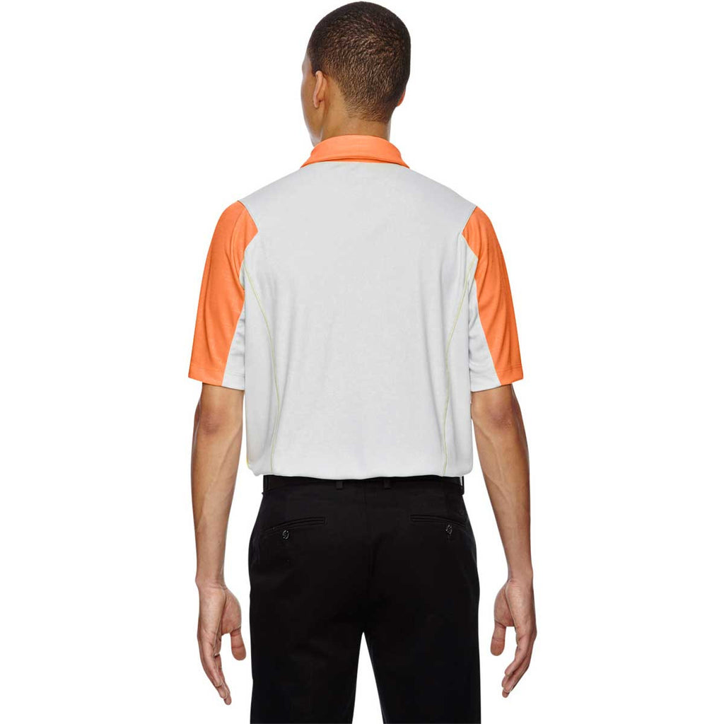 North End Men's Orange Soda Performance Embossed Print Polo