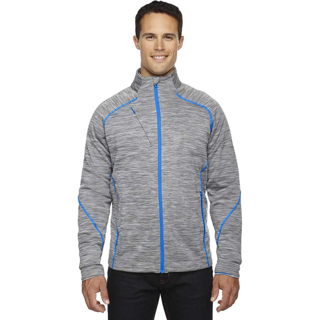 North End Men's Platinum Flux Melange Bonded Jacket