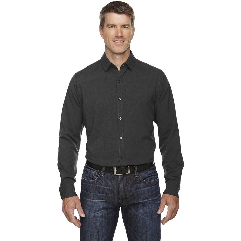 North End Men's Carbon Heather Melange Performance Shirt