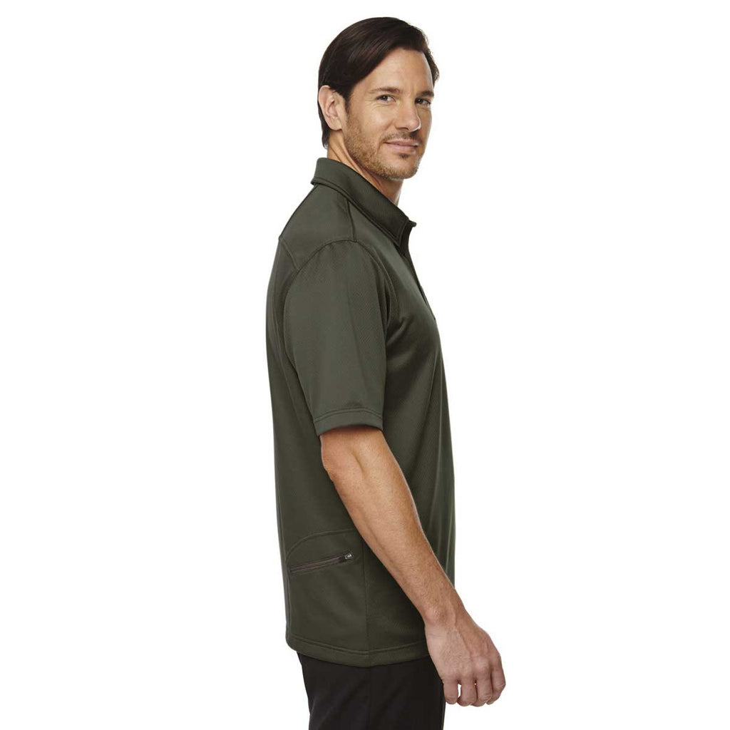 North End Men's Oakmoss Performance Polo with Back Pocket