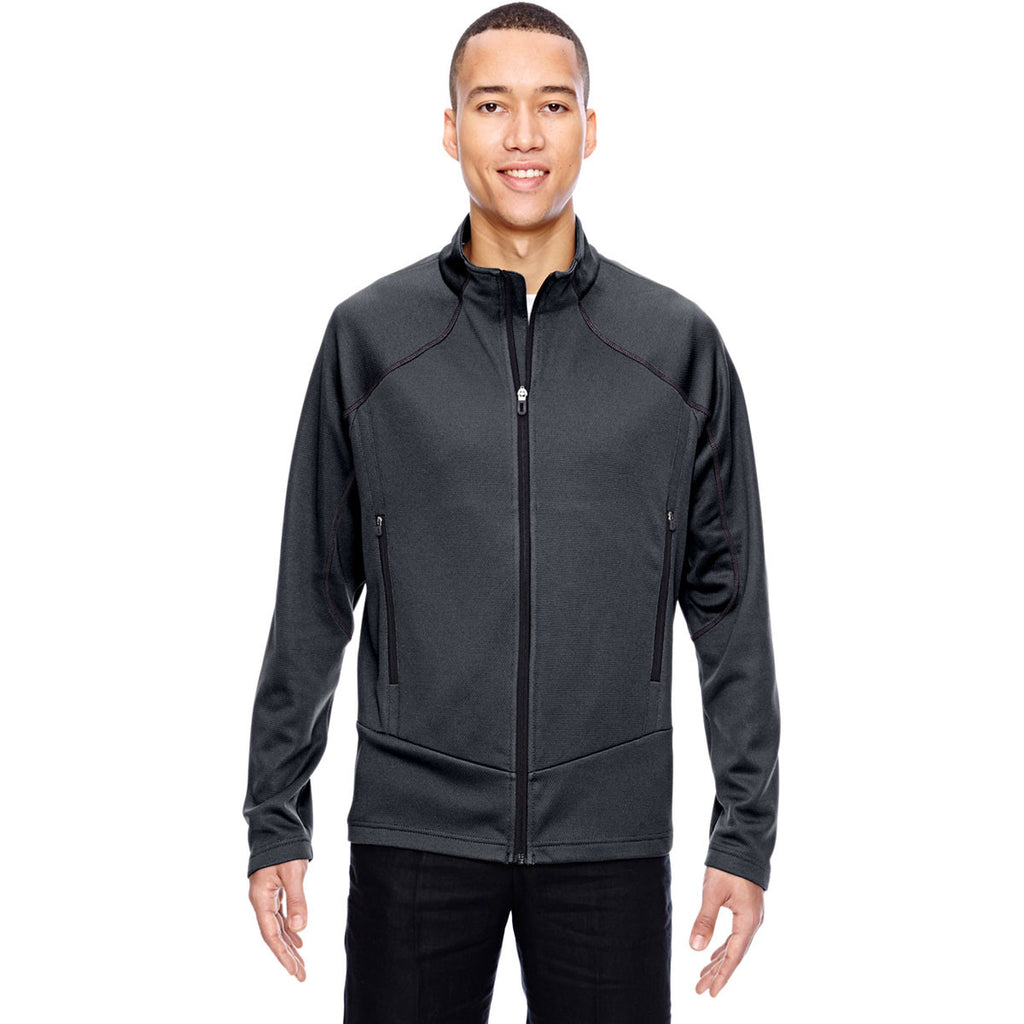 North End Men's Carbon Two-Tone Brush Back Jacket