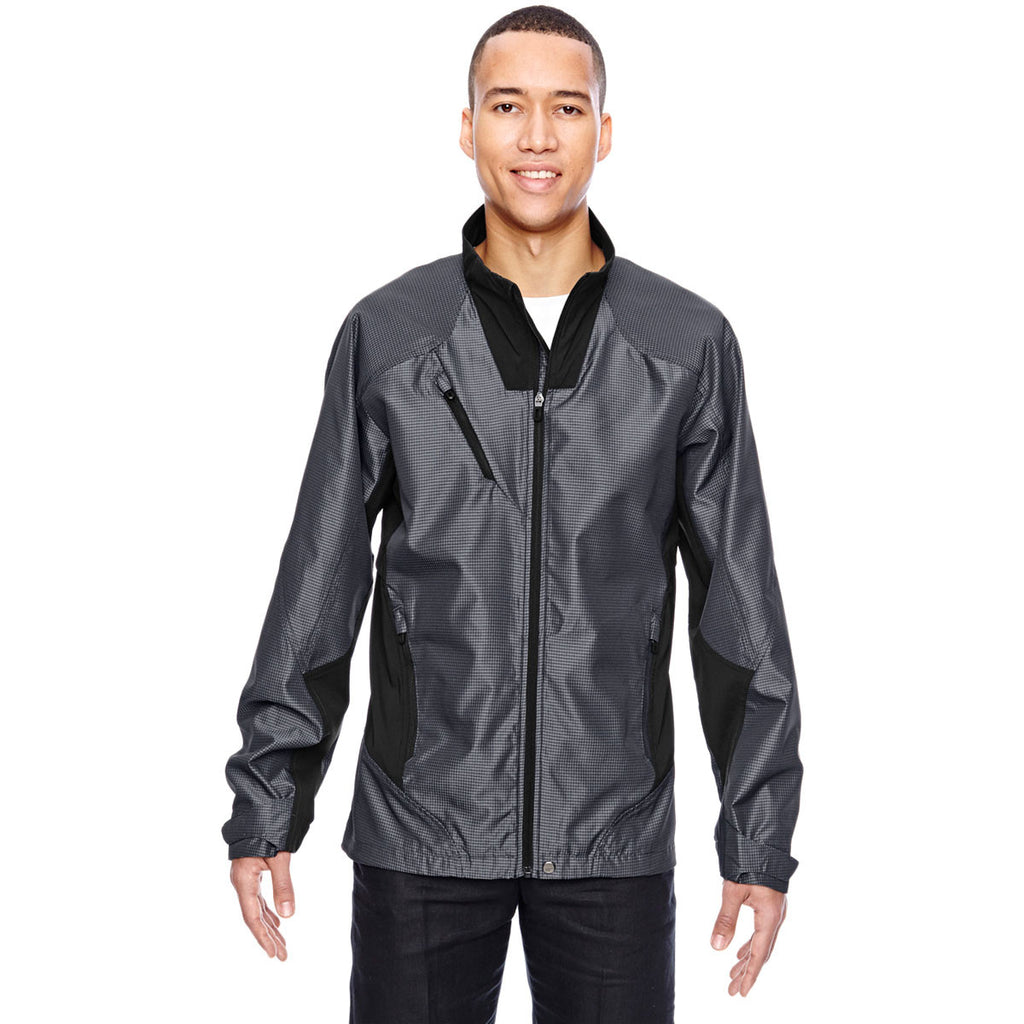 North End Men's Carbon Two-Tone Lightweight Jacket
