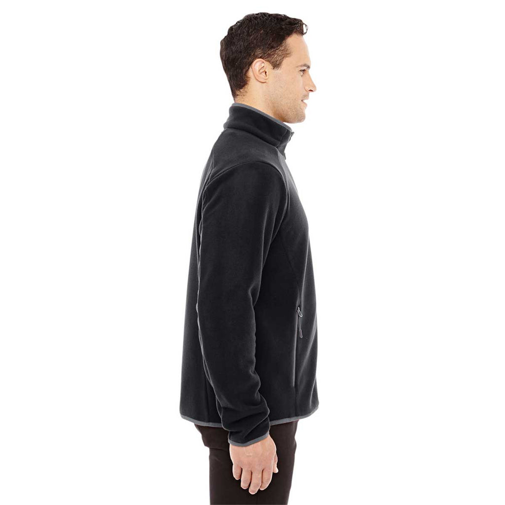 North End Men's Black/Carbon Polartec Fleece Jacket