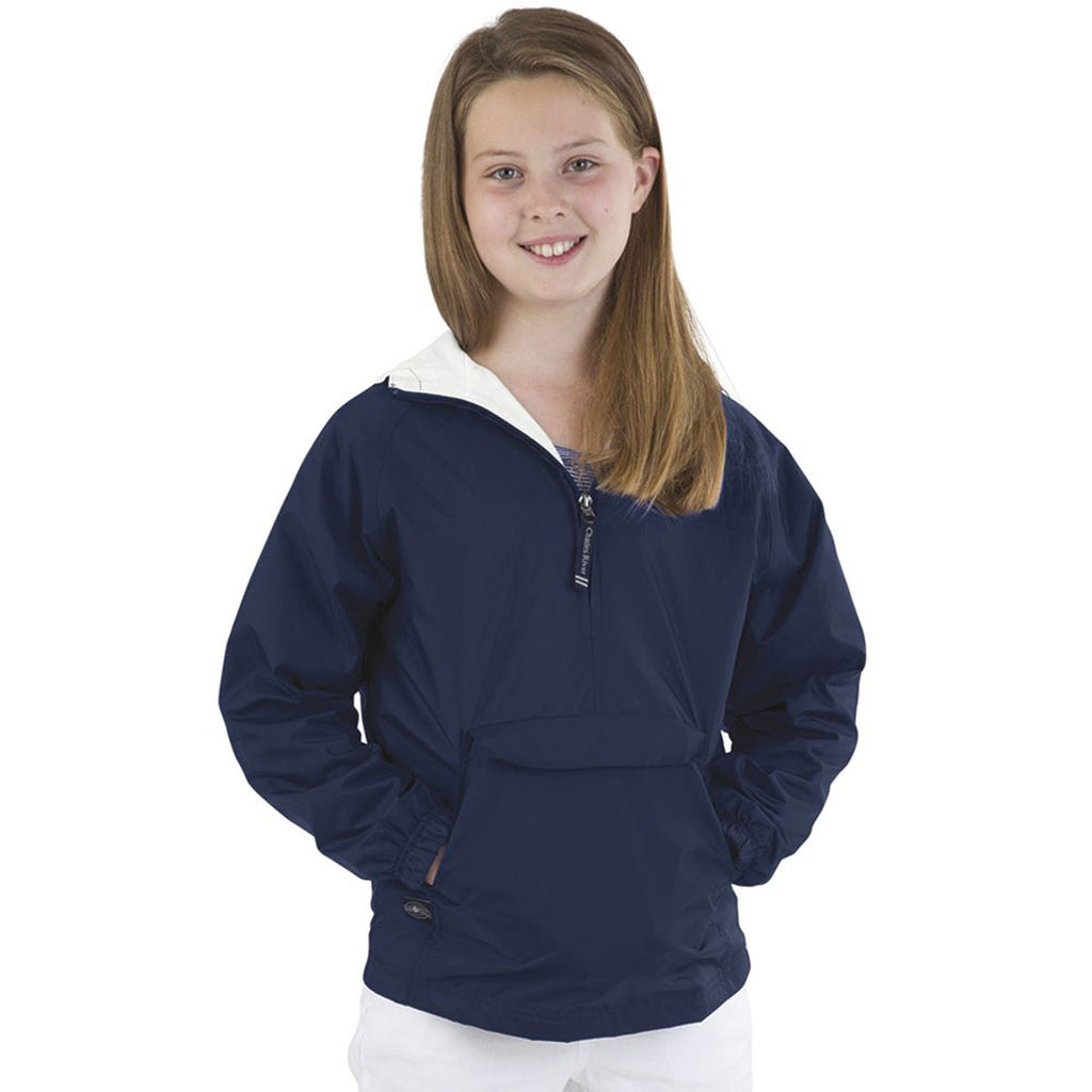Charles River Youth Navy Classic Solid Pullover
