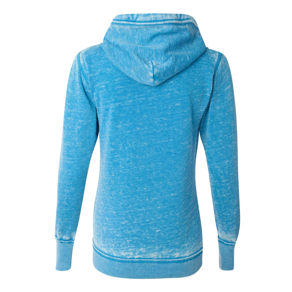 J. America Women's Oceanberry Zen Fleece Full-Zip Hooded Sweatshirt