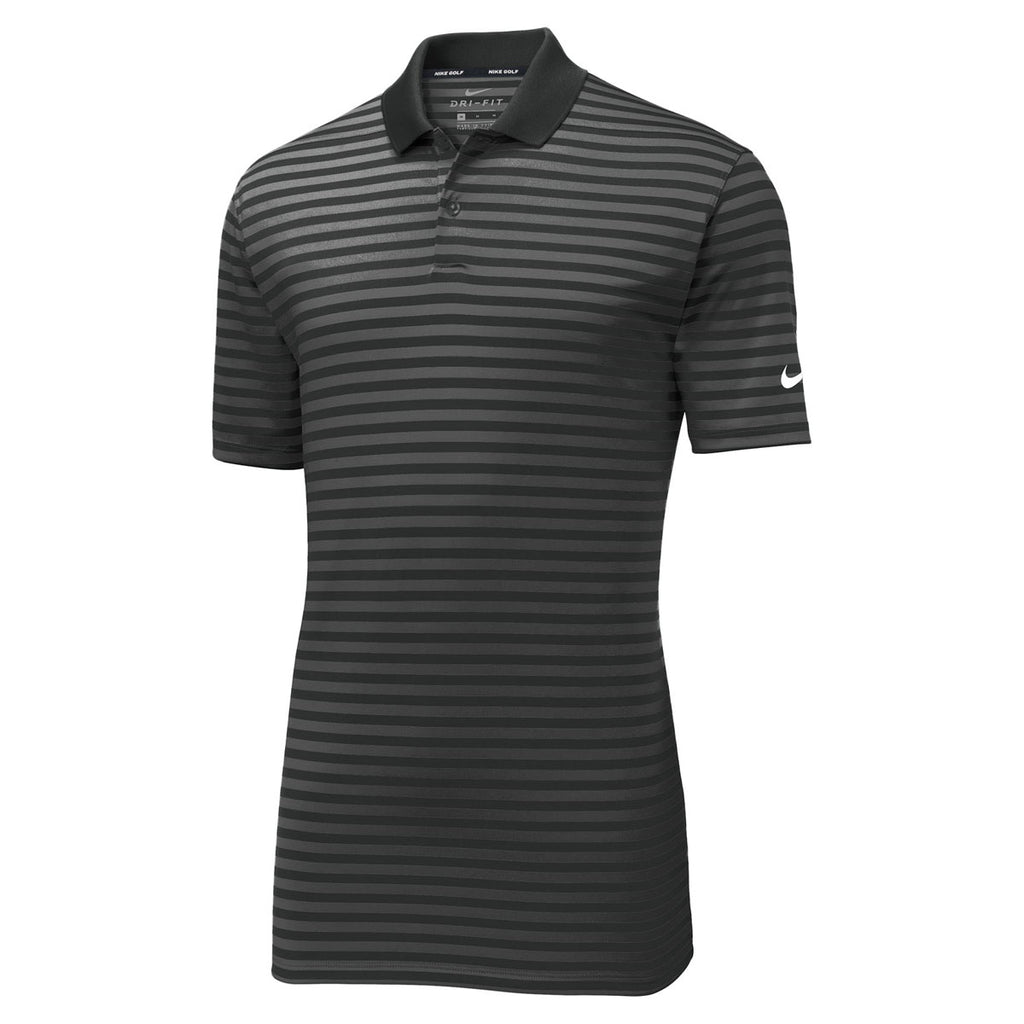 1f0faf0348 Nike Men's Black/Anthracite Victory Striped Polo