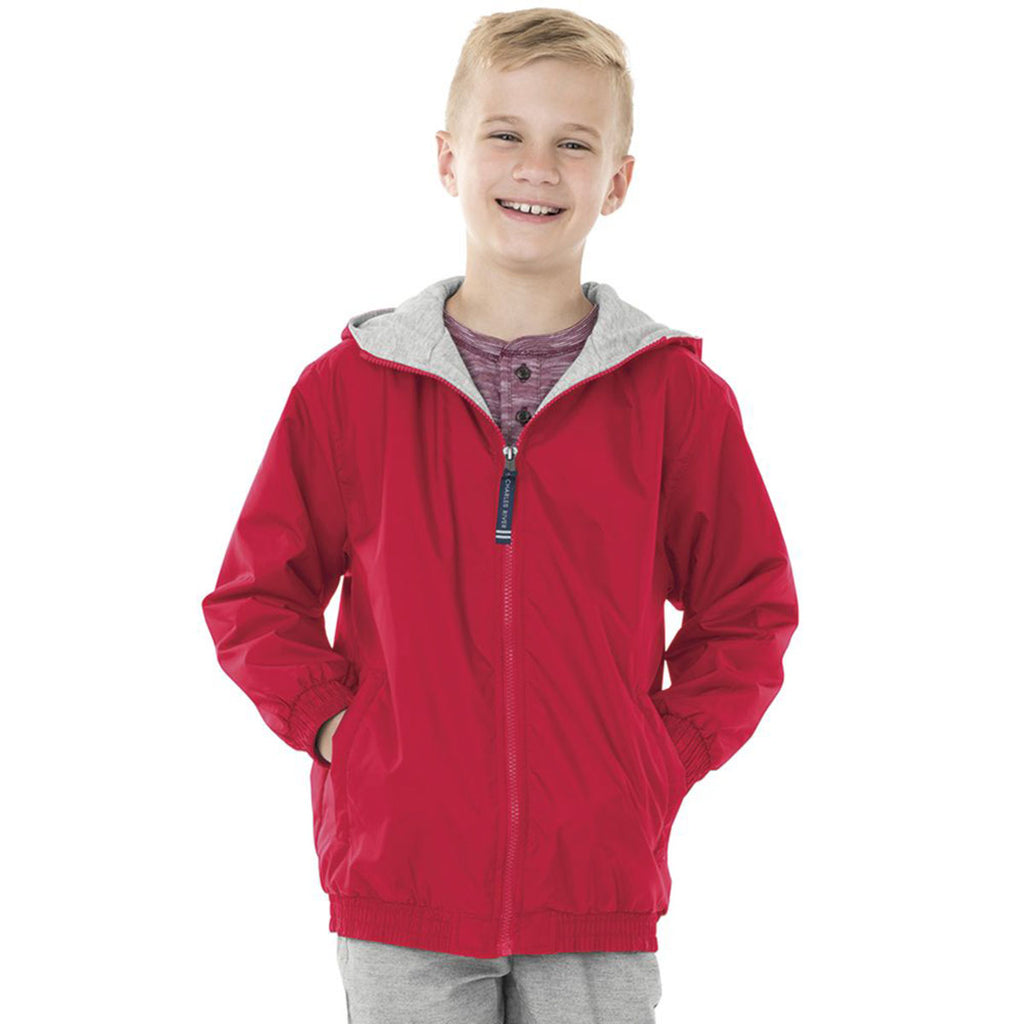 Charles River Youth Red Performer Jacket
