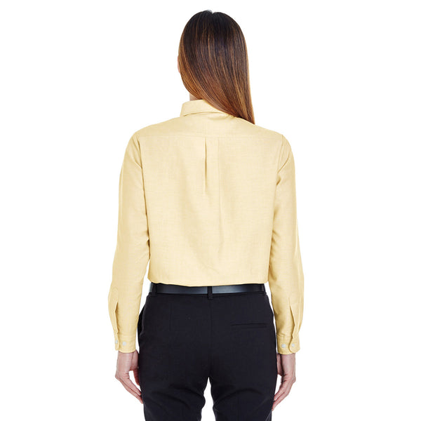 UltraClub Women's Butter Classic Wrinkle-Resistant Long-Sleeve Oxford