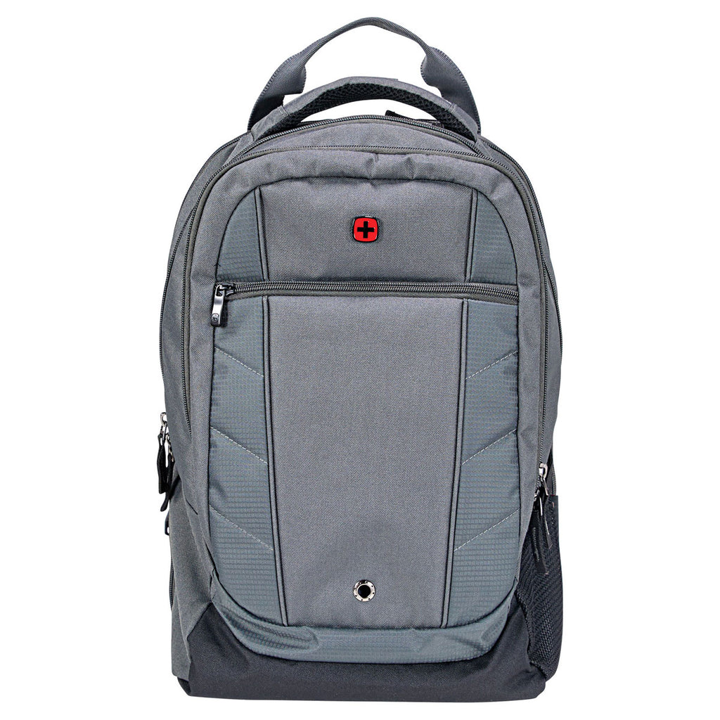 "Wenger Grey Pro Check 17"" Computer Backpack"