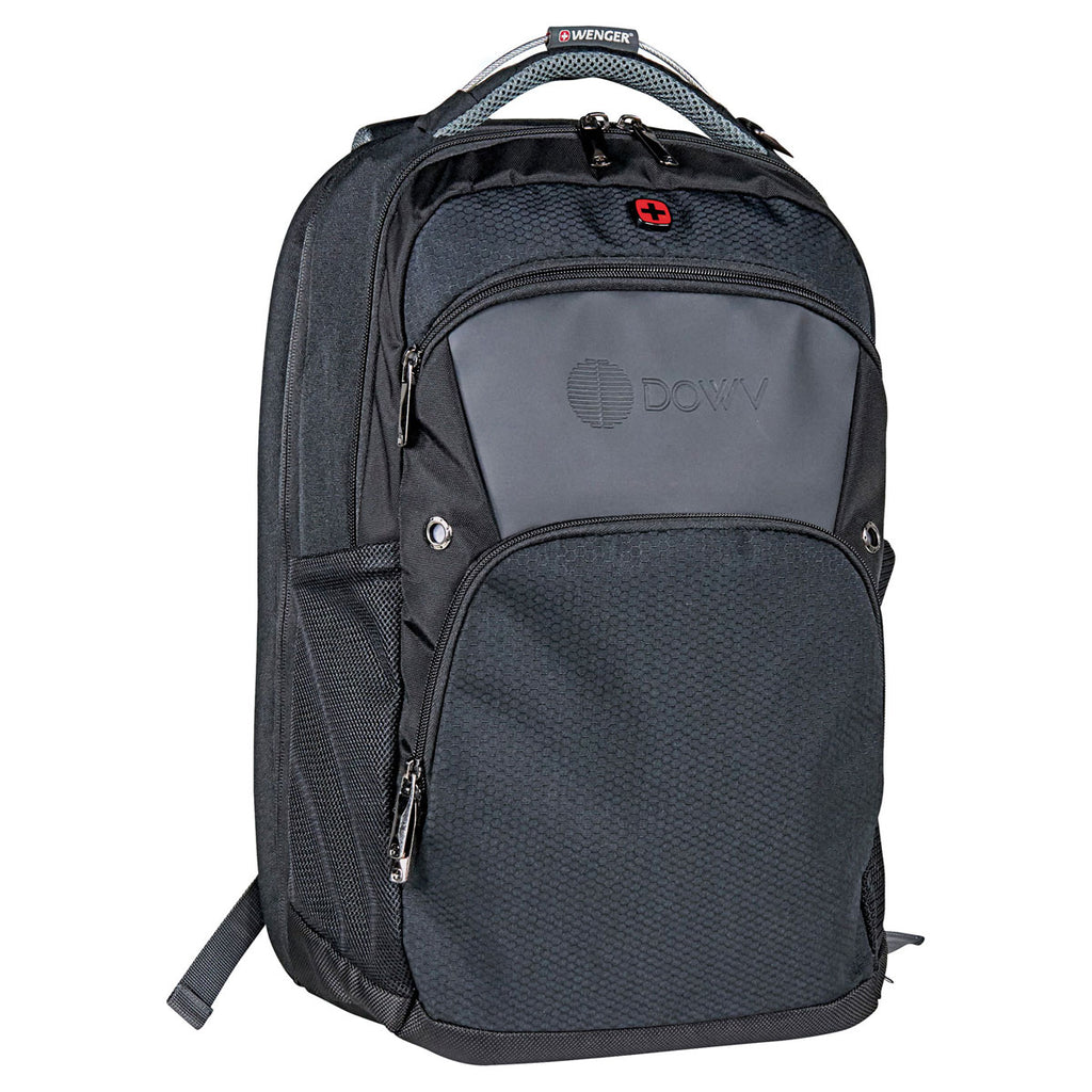 "Wenger Black Pro 17"" Computer Backpack"