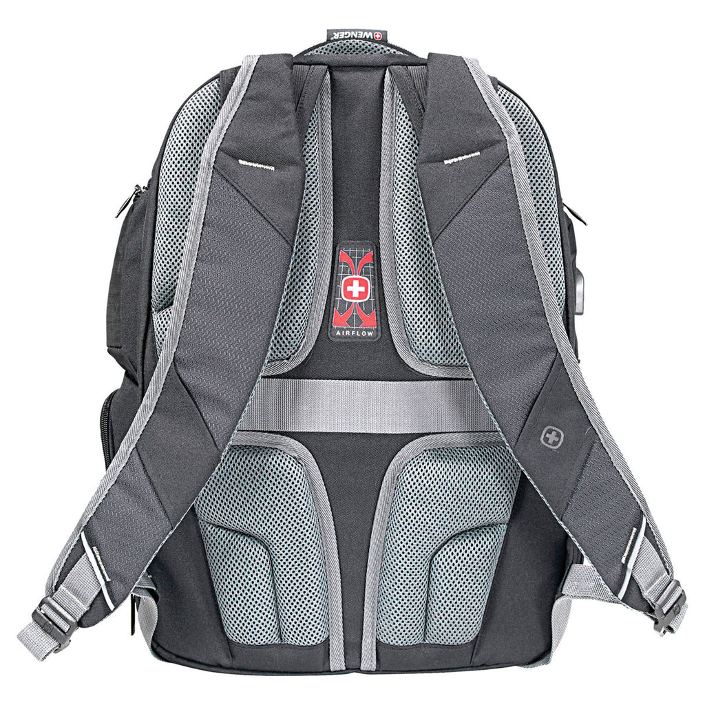 "Wenger Black Odyssey Pro-Check 17"" Computer Backpack"