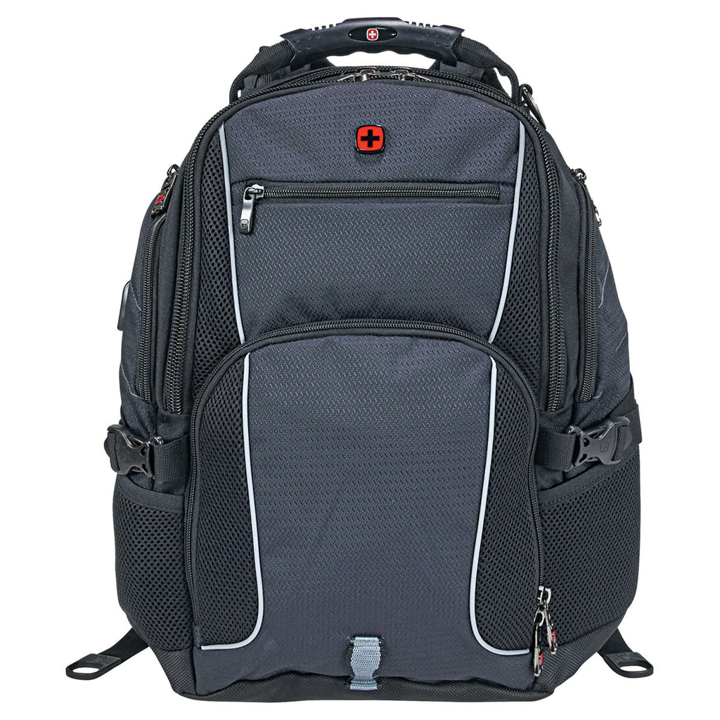 "Wenger Charcoal Pro II 17"" Computer Backpack"