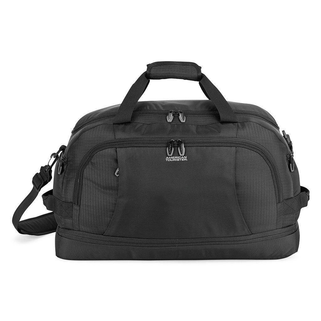 9501725f9bd American Tourister Black Voyager Travel Bag. ADD YOUR LOGO