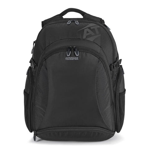 american tourister black voyager deluxe computer backpack