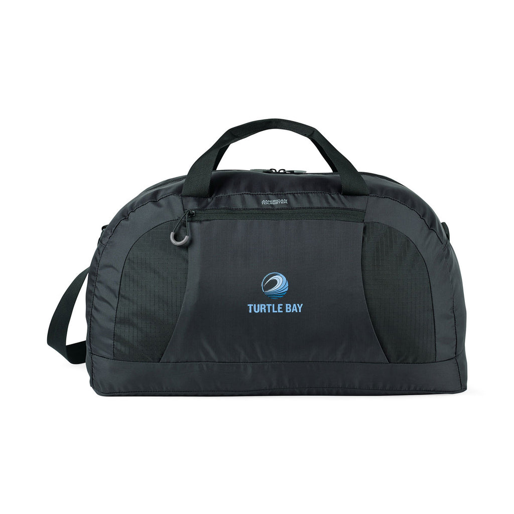 American Tourister Black Voyager Packable Duffel