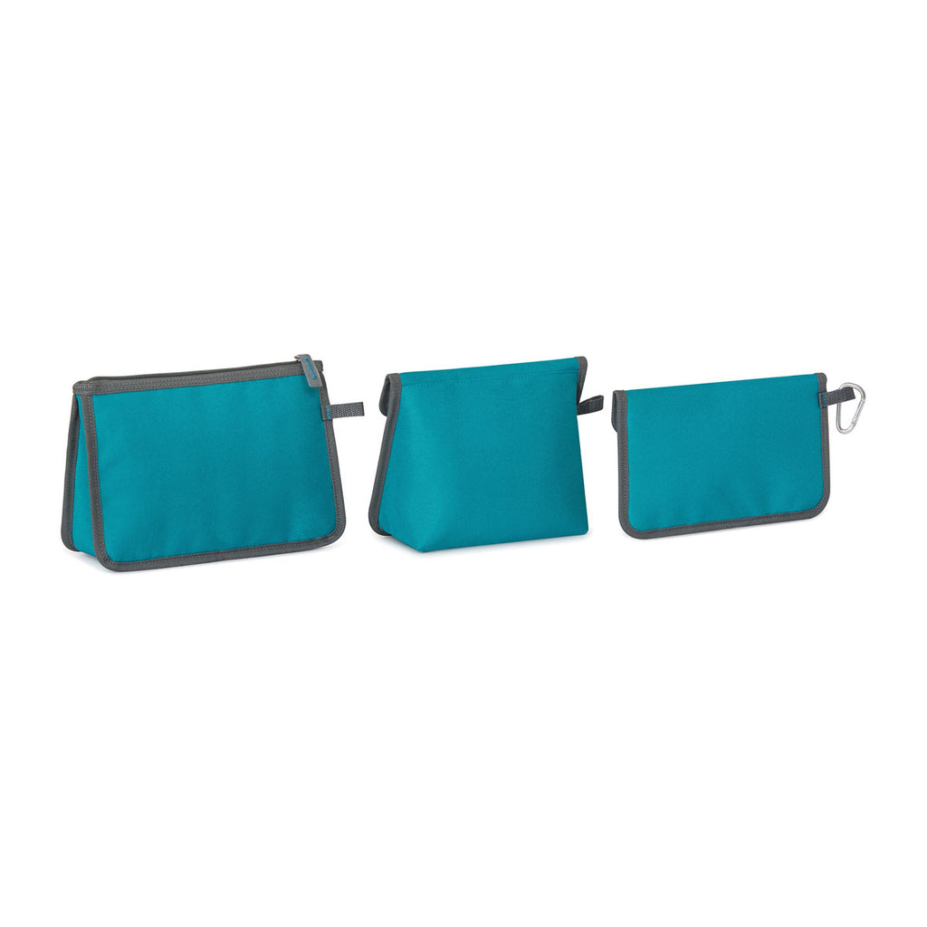Igloo Teal Blue Insulated 3 Piece Pouch Set
