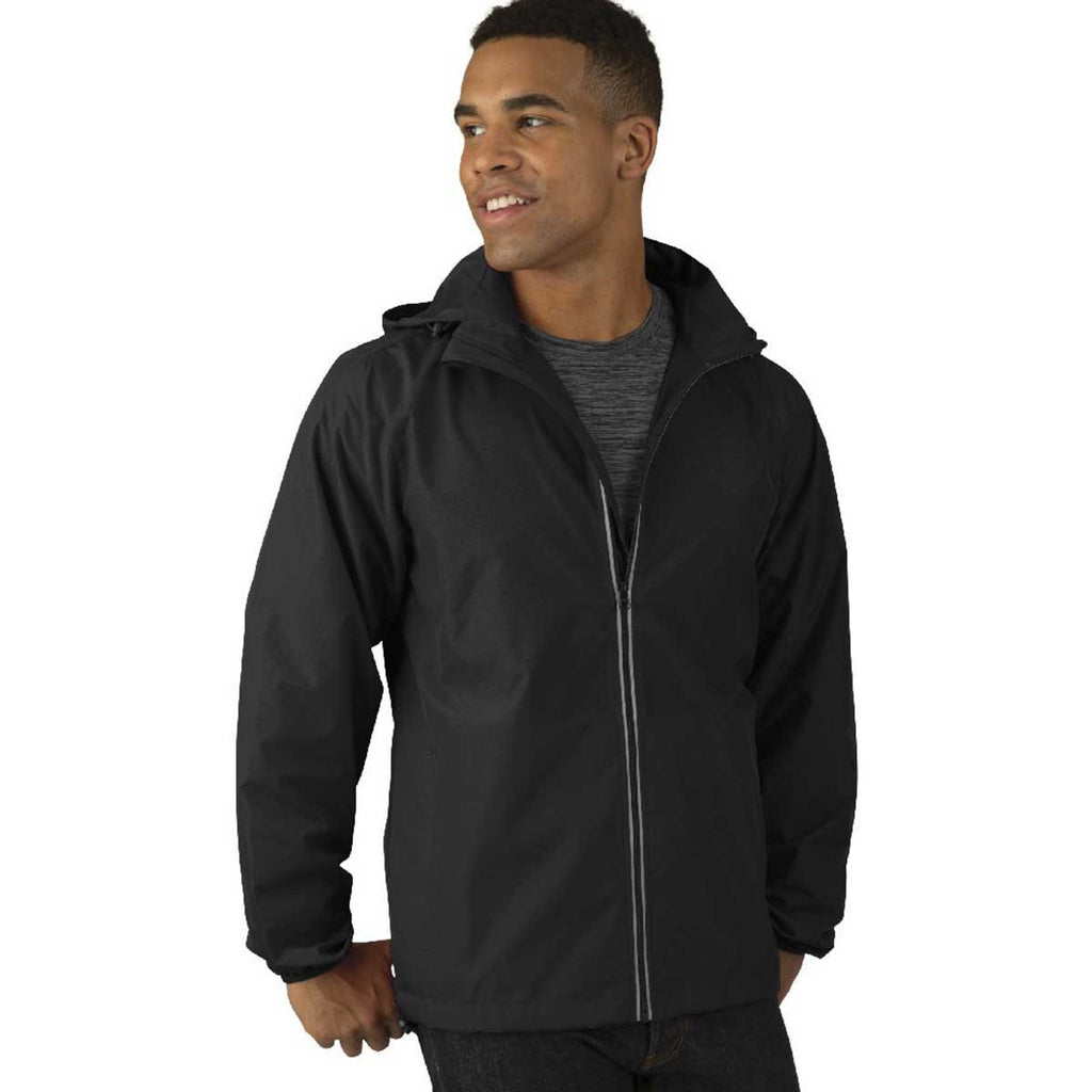 Charles River Men's Black Pack-N-Go Full Zip Reflective Jacket