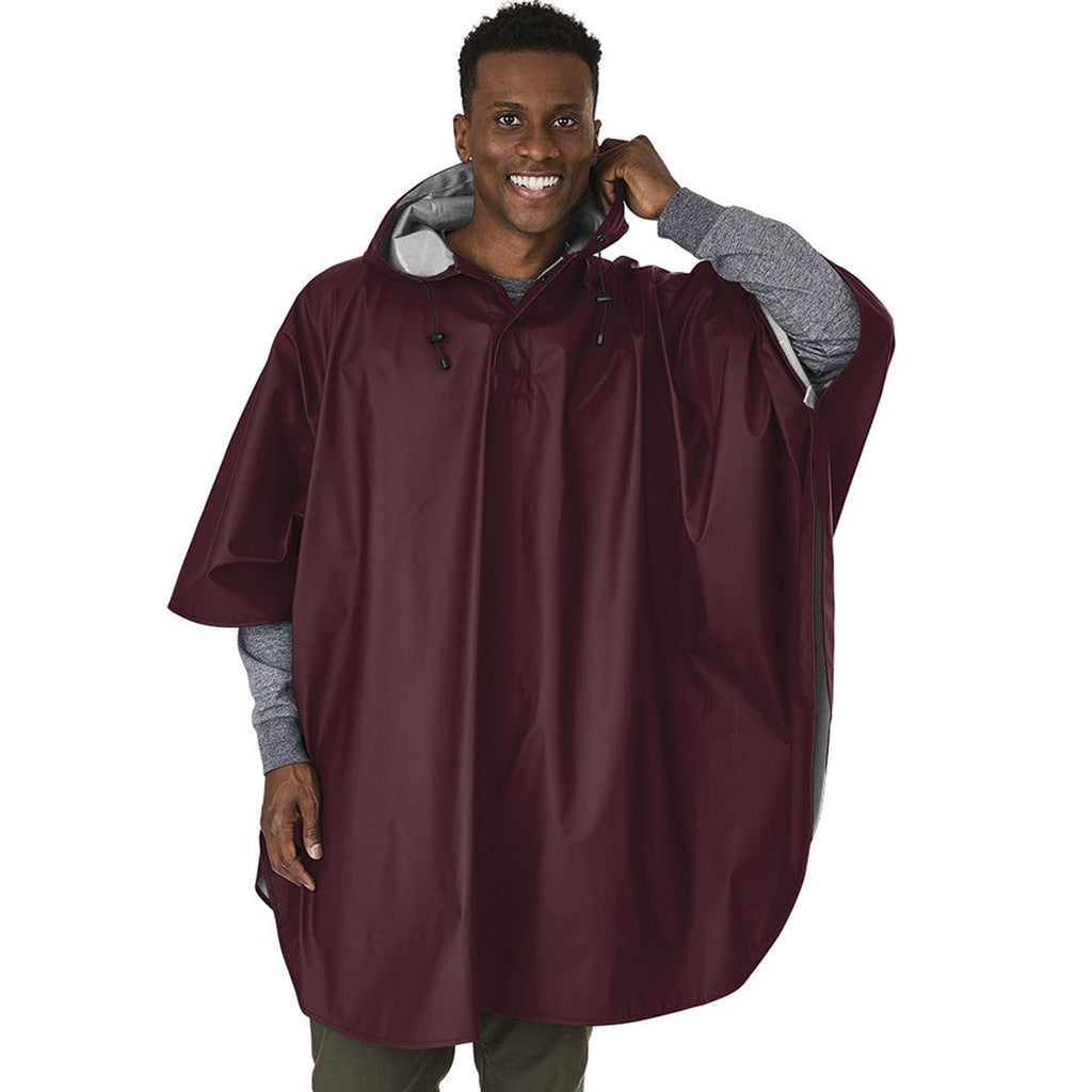 Charles River Men's Maroon Pacific Poncho