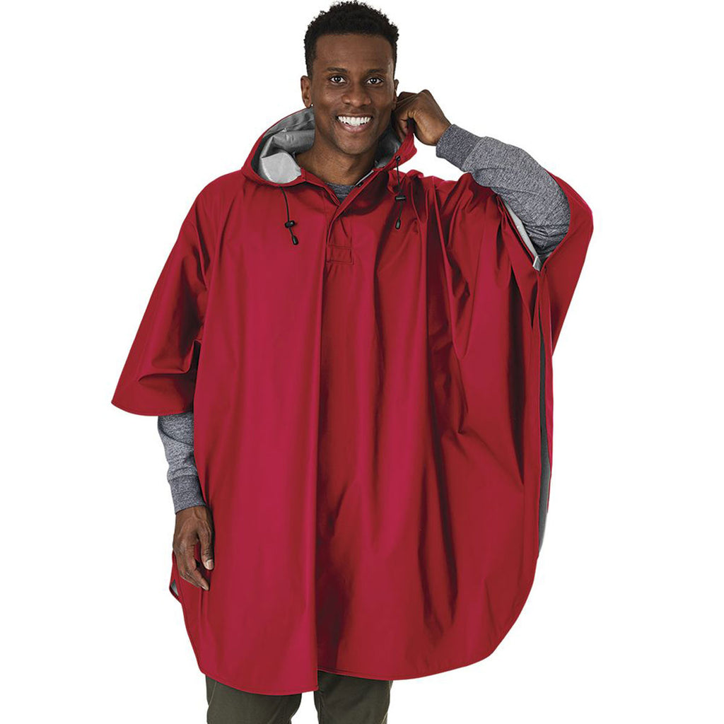 Charles River Men's Red Pacific Poncho