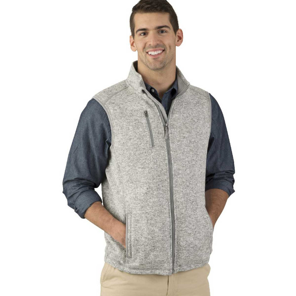 Charles River Men's Light Grey Heather Pacific Heathered Vest