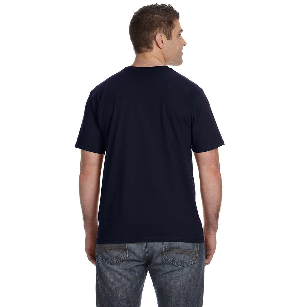 Anvil Men's Navy Lightweight T-Shirt