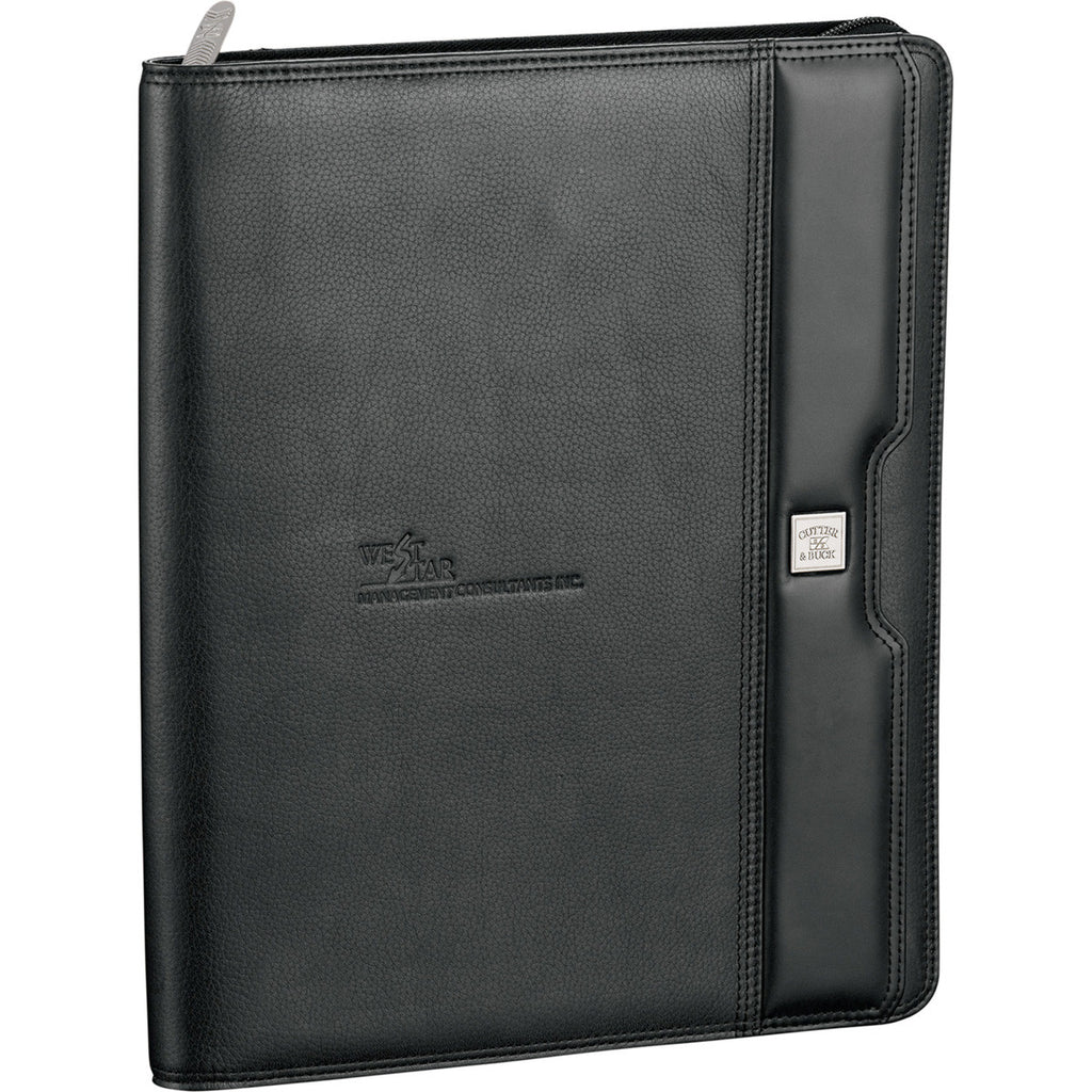 Cutter & Buck Black Performance Series Zippered Padfolio