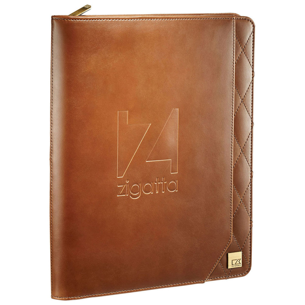Cutter & Buck Brown Bainbridge Zippered Padfolio