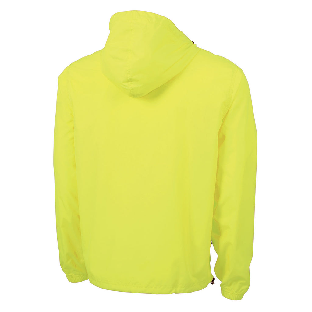 Charles River Men's Neon Yellow Pack-N-Go Pullover