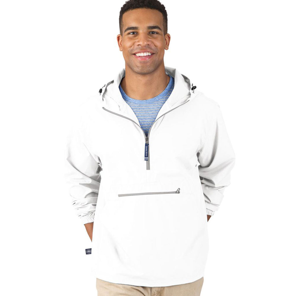 Charles River Men's White Pack-N-Go Pullover