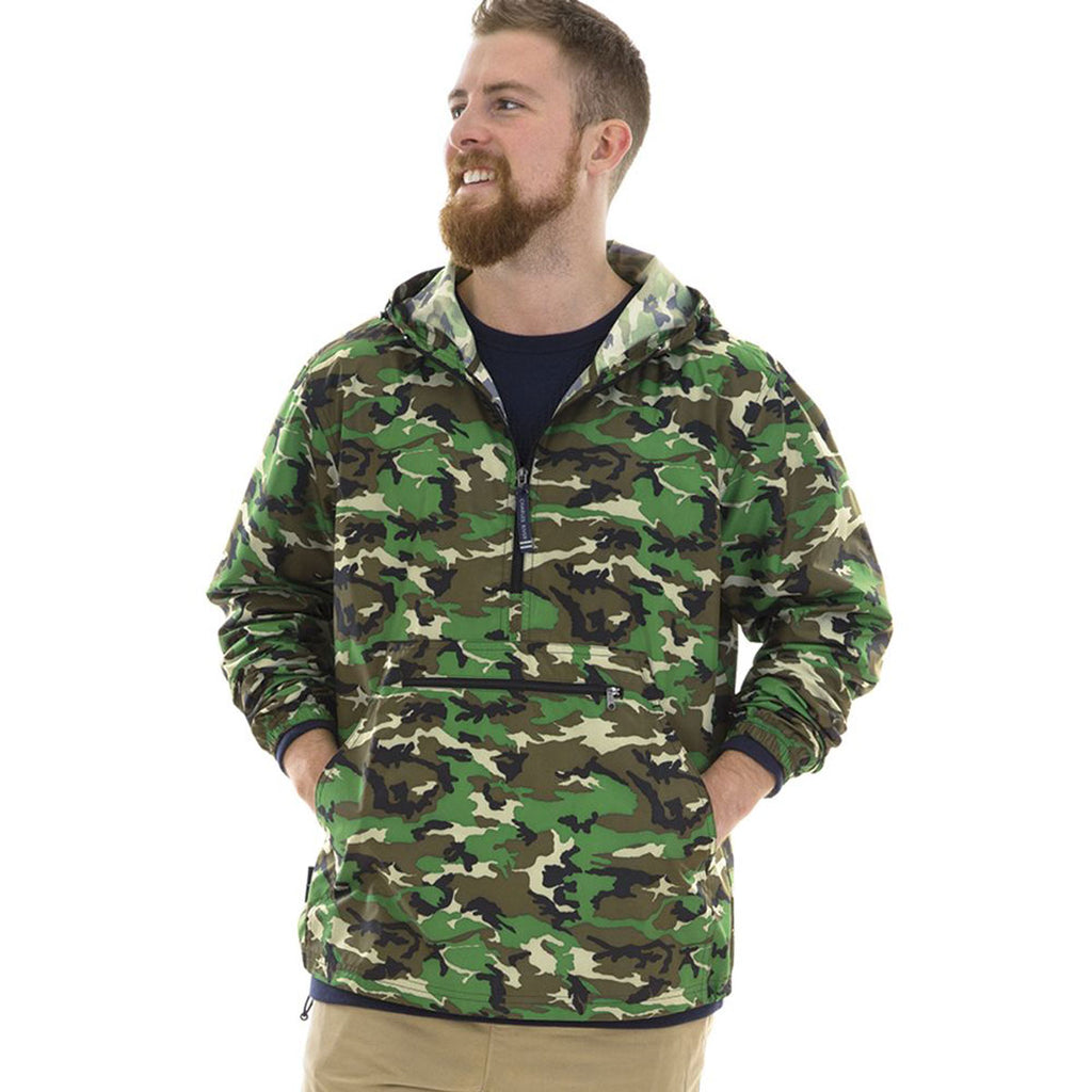 Charles River Men's Camo Pack-N-Go Print Pullover