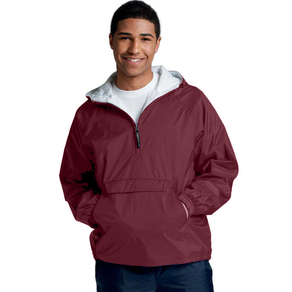 Charles River Unisex Adult Maroon Classic Solid Pullover