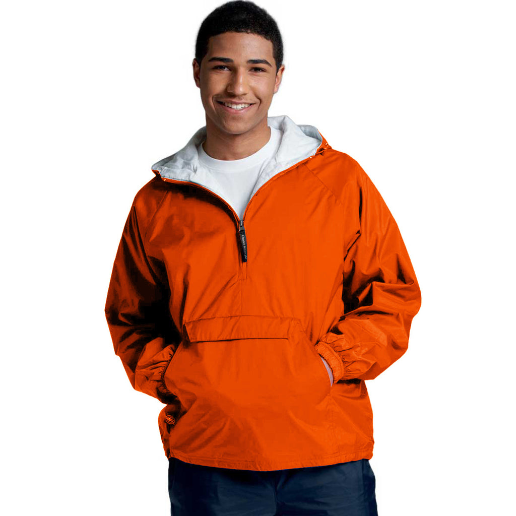 Charles River Unisex Adult Orange Classic Solid Pullover